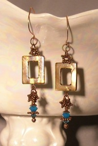 Coppertealearrings
